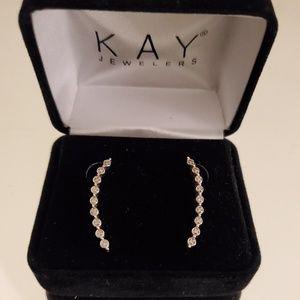 Kay Jewelers Diamond Climber Earrings